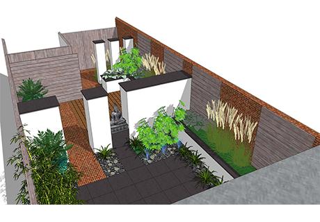 Tuinontwerp van idee tot 3d koert gardening in for 3d tuin ontwerpen